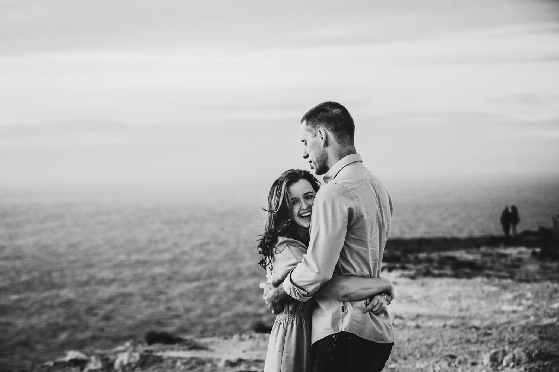 Sessão de fotografia de noivos no Cabo espichel em Lisboa - wedding photographer - Melo Lima Fotografia